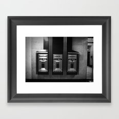 Mailboxes Black and White Original Photo Framed Art Print