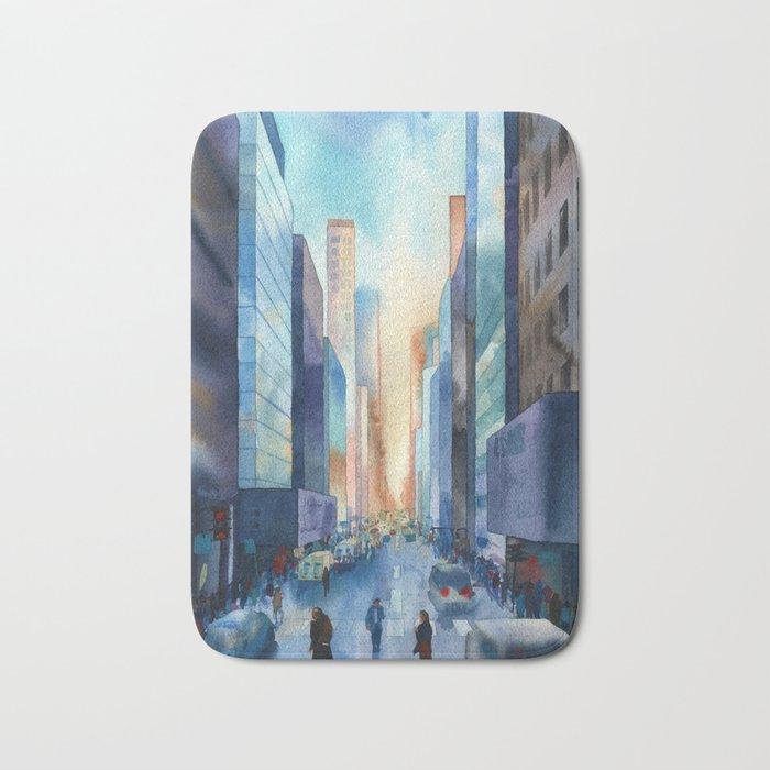 New York. Streets Bath Mat