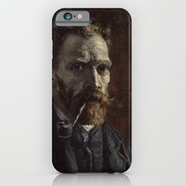 Vincent van Gogh - Self-Portrait with Pipe iPhone Case