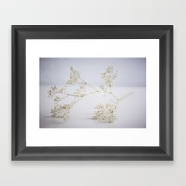 Soft flowers Framed Art Print