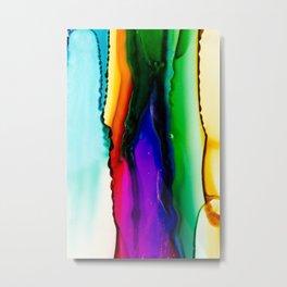 Rainbow Blossum Metal Print
