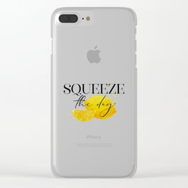 Squeeze the Day Lemon Clear iPhone Case
