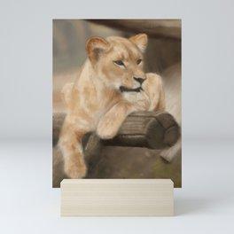Lionness painting Mini Art Print