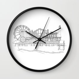 The Jersey Shore by the Downtown Doodler Wall Clock