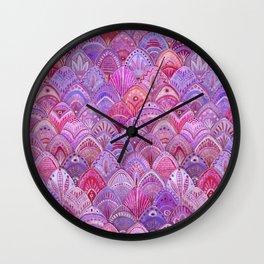 Mermaid Scales - Purple Wall Clock