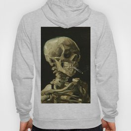 Skull of a Skeleton with Burning Cigarette by Vincent van Gogh Hoody
