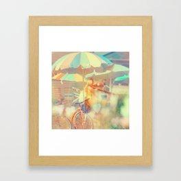 Seaside Town Framed Art Print