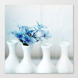 Blue Hydrangeas - Square Canvas Print