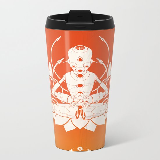 Opening the higher state of consciousness Metal Travel Mug