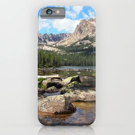 USA Imogene Lake Nature Mountains forest Scenery Stones mountain Forests landscape photography stone iPhone Case