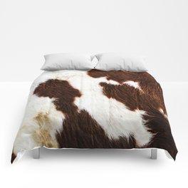 Cowhide Brown Spots Comforters