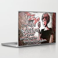 mad men Laptop & iPad Skins featuring Joan from Mad Men by Joe Badon