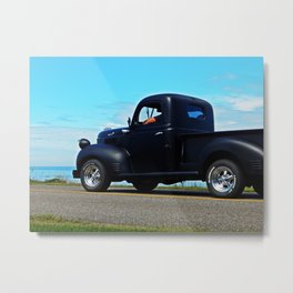 Cruising the Waterfront in the old Fargo Metal Print