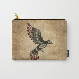 Red and Green Haida Spirit Flying Bird Carry-All Pouch
