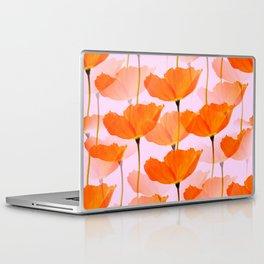 Orange Poppies On A Pink Background #decor #society6 #buyart Laptop & iPad Skin