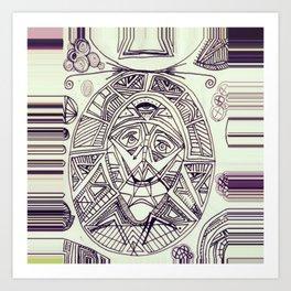 Freaky Deaky  Art Print