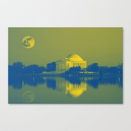 Jefferson Memorial, Washington, D.C. Original image from Carol M. Highsmith v5 Canvas Print