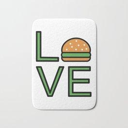Love Burgers Super Cute And Fun Love Gift Idea Bath Mat