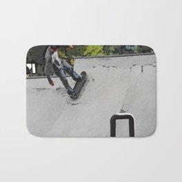 Up the Ramp  - Skateboarder Bath Mat