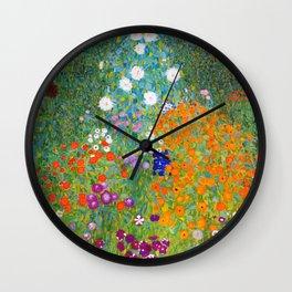 Klimt Farm Garden - Digital Remastered Edition Wall Clock
