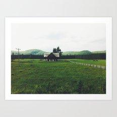 Farm in Haliburton Highlands Art Print