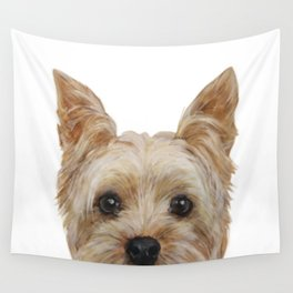Yorkshire Terrier original painting print Wall Tapestry