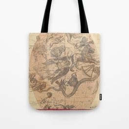 Constellation Chart 1856 Tote Bag