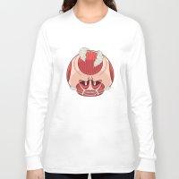 titan Long Sleeve T-shirts featuring Super Titan Mushroom by BKK BROS. (Bangkok Brothers)
