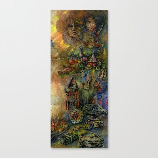Worldly wealth Canvas Print