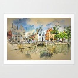 Beautiful Bruges Belgium Art Print