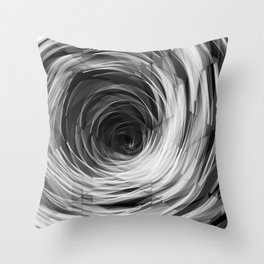 Black Faceted Swirl Throw Pillow