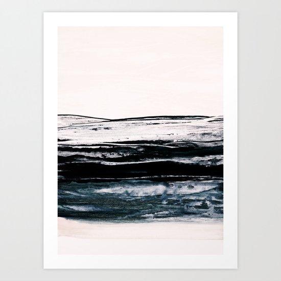 abstract minimalist landscape 9 Art Print
