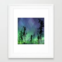 northern lights Framed Art Prints featuring Northern Lights by Ricca Design Co.