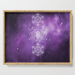 Sacred Geometry - We are Stardust Serving Tray