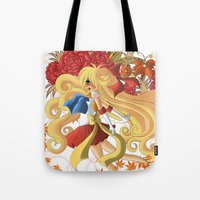 sailor venus Tote Bags featuring Venus by Christine Tribou