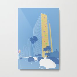 Los Angeles [Lines Project] [1] Metal Print