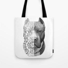 Pit Bull Print, Pit Bull Quote, Pit Bull Gift, Text Dog Portrait, Dog Art, Dog Quotes Print, Text Do Tote Bag