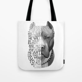 Pit Bull Print, Pit Bull Quote, Pit Bull Gift, Text Dog Portrait, Dog Art, Dog Quotes Print, Text Do Tote Bag