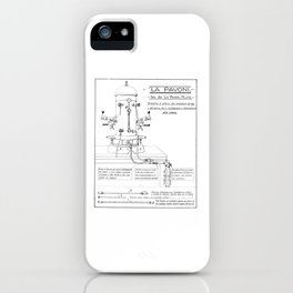La Pavoni Patent Drawing Poster (Very Old & Rare) iPhone Case