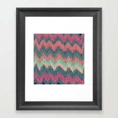 IKAT CHEVRON Framed Art Print