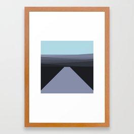 Purple pathways Framed Art Print