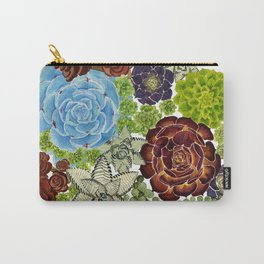 """The Monroe"" Watercolor Succulent, Botanical watercolor, Carry-All Pouch"
