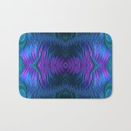 Sunrise Reflections on the Frosty Lake Fractal Abstract Bath Mat