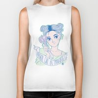 magical girl Biker Tanks featuring MAGICAL GIRL IN TRAINING by Natalie Nardozza
