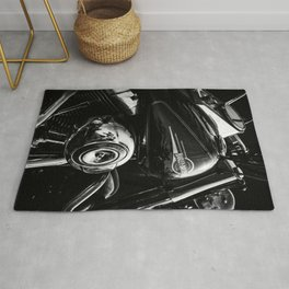 Black and Chrome  Rug