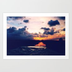 Paradise Sunset Art Print