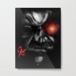 Solid Eye Red Metal Print