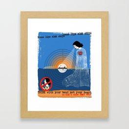 Loose Lips Sink Ships Framed Art Print