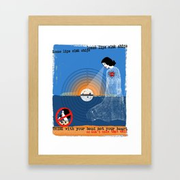 Loose Lips Sink Ships Framed Art Print
