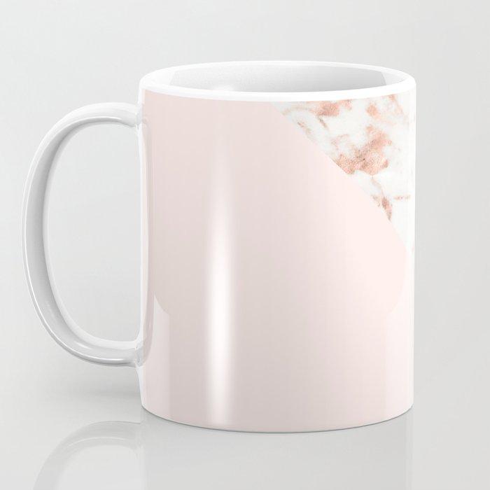 Rose gold blush aesthetic Coffee Mug
